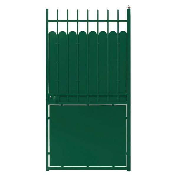 Portillon en acier hauteclaire largeur 1m vert achat for Portillon en fer vert