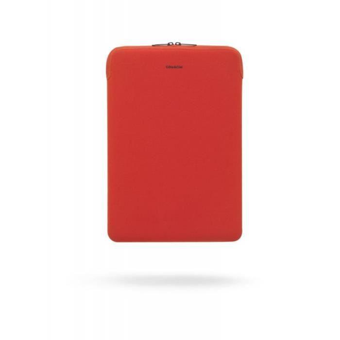 Housse zipp e pour macbook air 13 rouge cote achat for Housse zippee