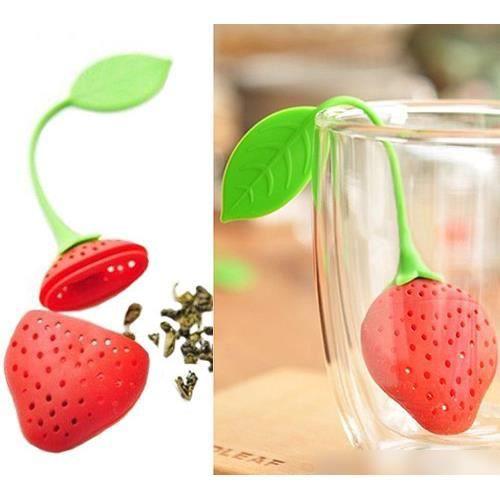 infuseur th en forme de fraise kawaii achat vente infuseur boule th soldes d t. Black Bedroom Furniture Sets. Home Design Ideas