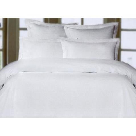 housse de couette satin de coton blanc 200 cm x achat. Black Bedroom Furniture Sets. Home Design Ideas