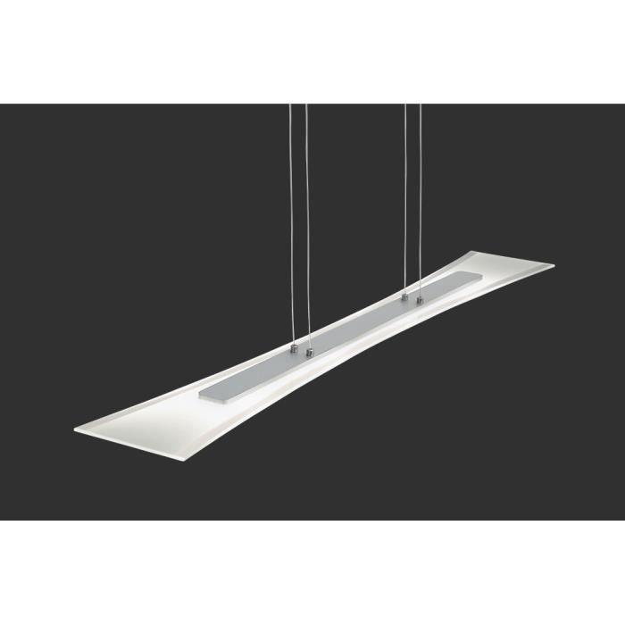 suspension longue 100 cm 4 led en aluminium et achat vente suspension longue 100 cm 4. Black Bedroom Furniture Sets. Home Design Ideas
