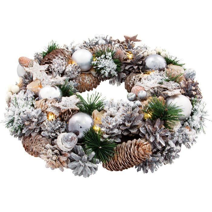 couronne de porte nature collection no l tai achat vente boule de no l cadeaux de. Black Bedroom Furniture Sets. Home Design Ideas
