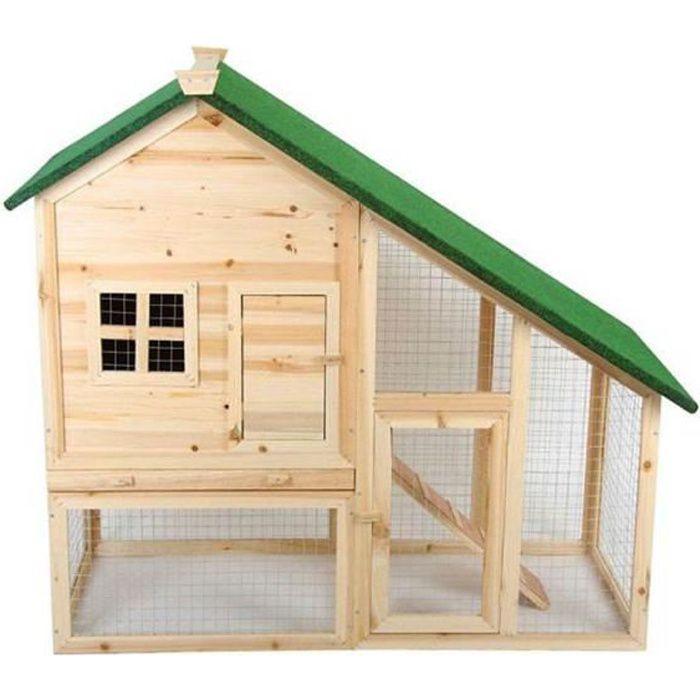 cage lapin clapier pour lapins rongeurs 2 etages achat. Black Bedroom Furniture Sets. Home Design Ideas