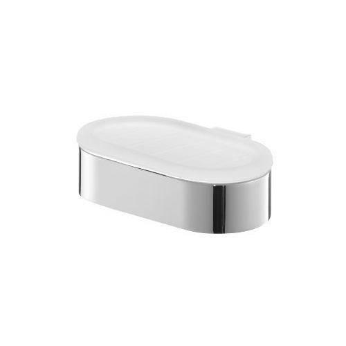 Bisk 02982 futura porte savon en verre d poli avec support argent 13 5 x 11 x 4 cm achat for Porte savon en verre