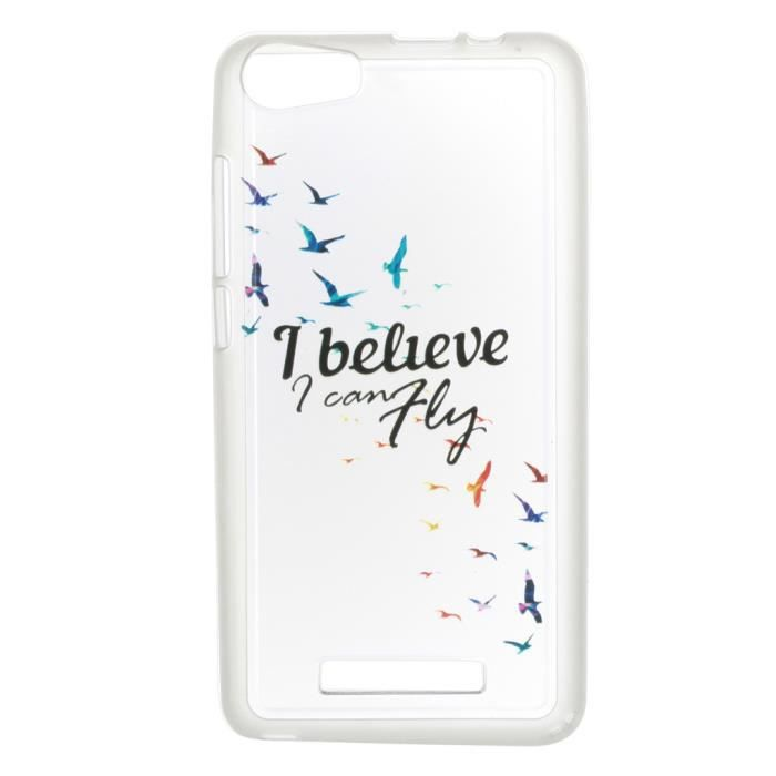 pour wiko lenny 2 flying birds motif coque gel silicone