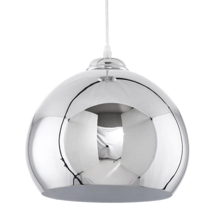 lampe suspendue design en m tal de couleur chrom achat vente lustre et suspension lampe. Black Bedroom Furniture Sets. Home Design Ideas