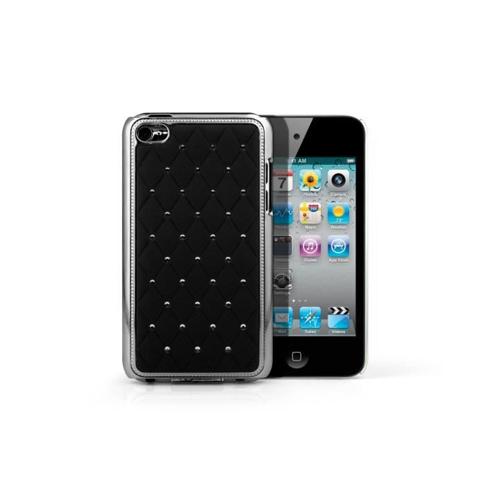 coque ipod touch 4 luxury leather noir coque mp3 mp4. Black Bedroom Furniture Sets. Home Design Ideas