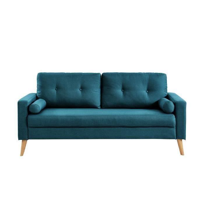 canap droit bleu achat vente canap droit bleu pas cher les soldes sur cdiscount cdiscount. Black Bedroom Furniture Sets. Home Design Ideas