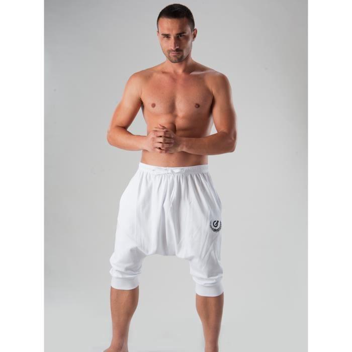 sarouel homme pantalon de d blanc achat vente chemise de nuit cdiscount. Black Bedroom Furniture Sets. Home Design Ideas