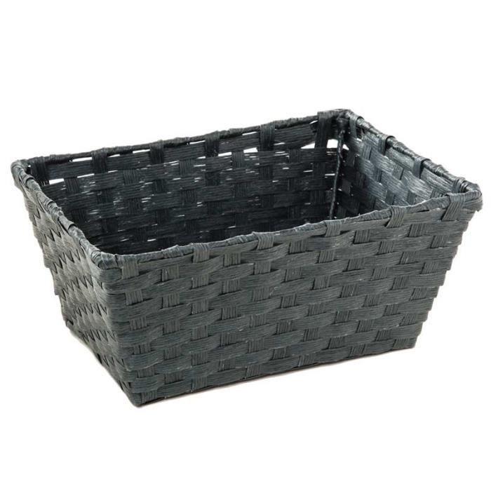 panier rectangulaire en osier gris fonc paris prix achat vente casier pour meuble osier. Black Bedroom Furniture Sets. Home Design Ideas