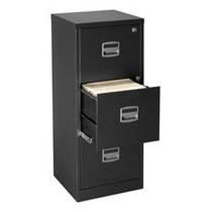 classeur monobloc budget noir 3 tiroirs rangez achat vente meuble classement classeur. Black Bedroom Furniture Sets. Home Design Ideas