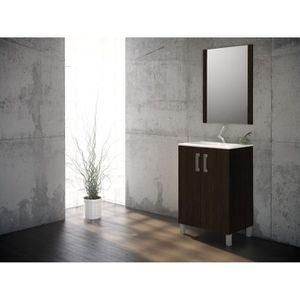 Meuble salle de bain couleur bois avec pied achat for Meuble de salle de bain 60 cm pas cher