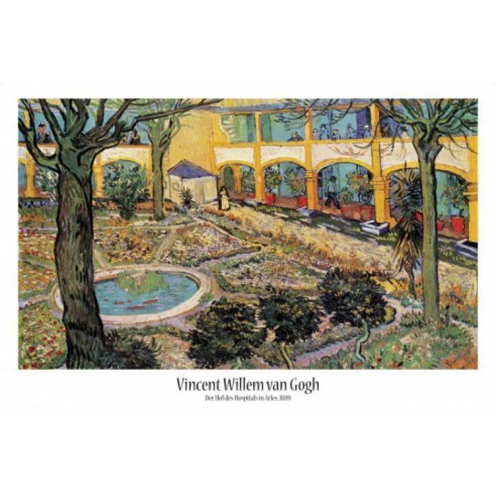 Vincent van gogh poster le jardin de l h pital d arles for Jardin 91