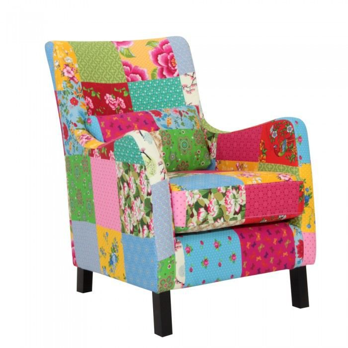 Fauteuil design elise couleur multicolore matie achat for Fauteuil multicolore design
