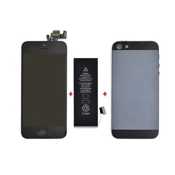 kit de remise neuf noir pour iphone 5 achat accessoires smartphone pas cher avis et. Black Bedroom Furniture Sets. Home Design Ideas
