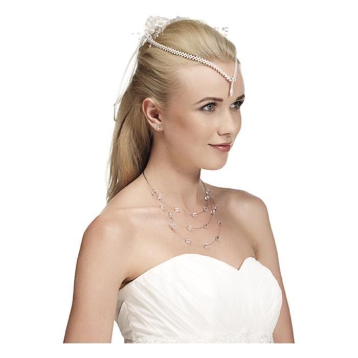 accessoire coiffure mariage avec collier de t t achat. Black Bedroom Furniture Sets. Home Design Ideas
