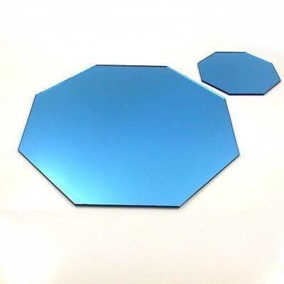 4 bleus napperons miroir octogone sous verres achat for Miroir 40x150