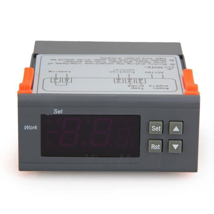 Thermom tre solaire lcd serre int rieur ext rie achat for Thermostat interieur