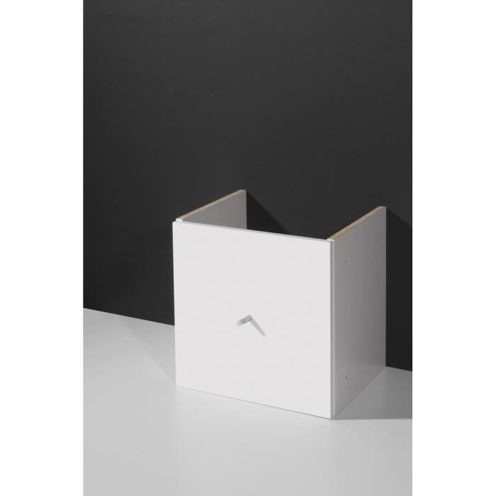 porte pour tag re de bureau coloris blanc riverside. Black Bedroom Furniture Sets. Home Design Ideas
