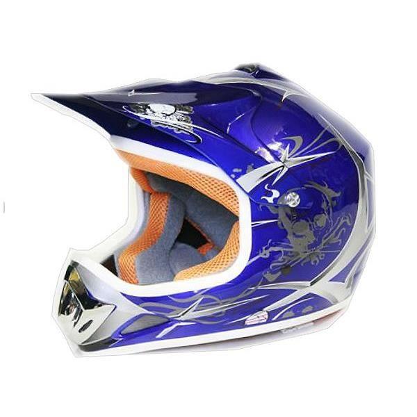 xtreme casque helmets moto cross pour enfant sport bleu l achat vente casque moto scooter. Black Bedroom Furniture Sets. Home Design Ideas