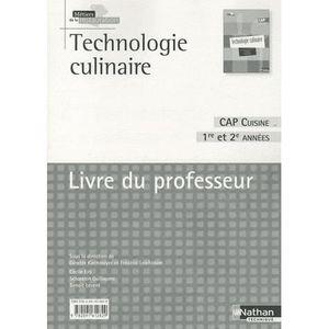 Livre cap cuisine achat vente livre cap cuisine pas for Technologie cuisine bac pro