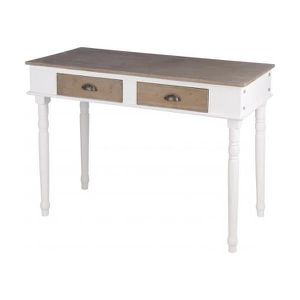 Table a manger bois avec tiroir achat vente table a for Table avec tiroir cuisine