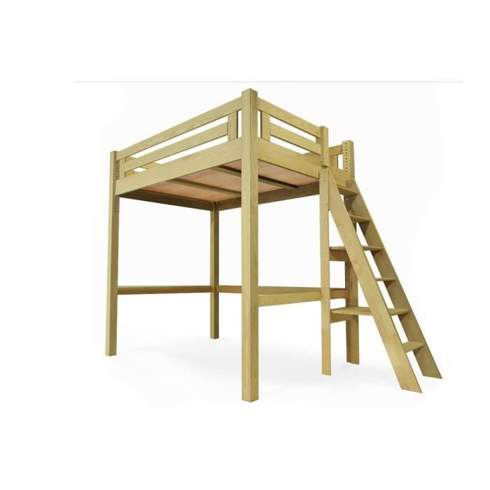 lit mezzanine alpage bois  échelle hauteur réglable
