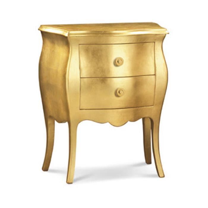 Table de chevet style classique en bois massif et mdf - Table de chevet classique ...