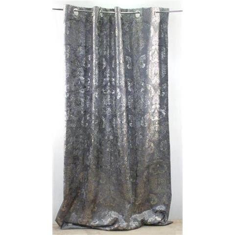 rideau argent 260x150 cm achat vente rideau voilage textile cdiscount. Black Bedroom Furniture Sets. Home Design Ideas