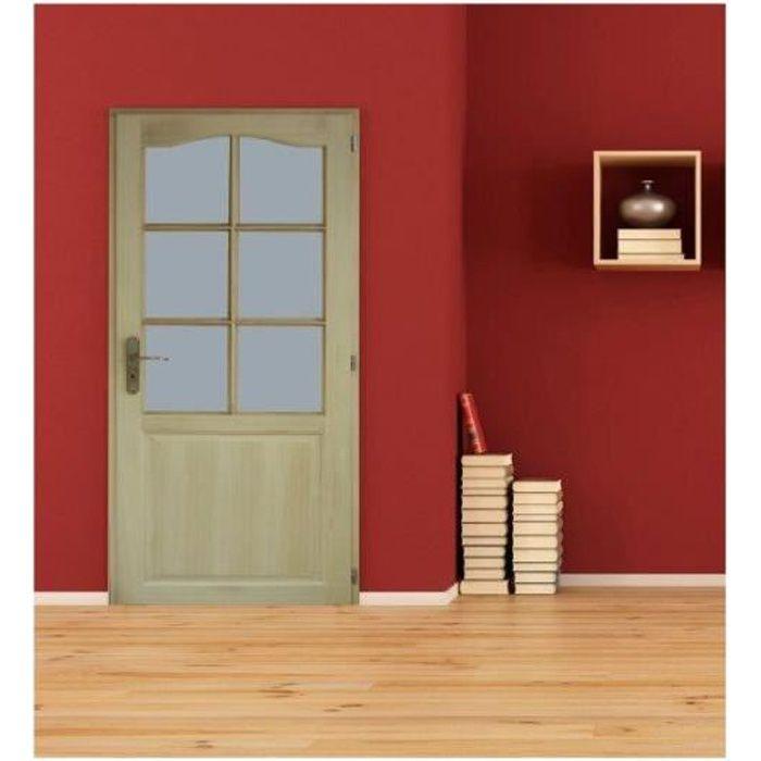 Bloc porte en paulownia a vitrer largeur 73 cm droite for Bloc porte interieur a vitrer