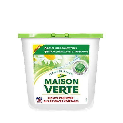 Maison verte pack de 20 lessive gel caps lot de 2 achat vente lessive - Maison verte lessive ...