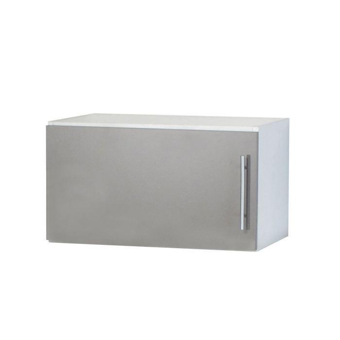 Trendy 2 meuble haut ou sur hotte l60 cm taupe achat for Meuble haut 110 cm