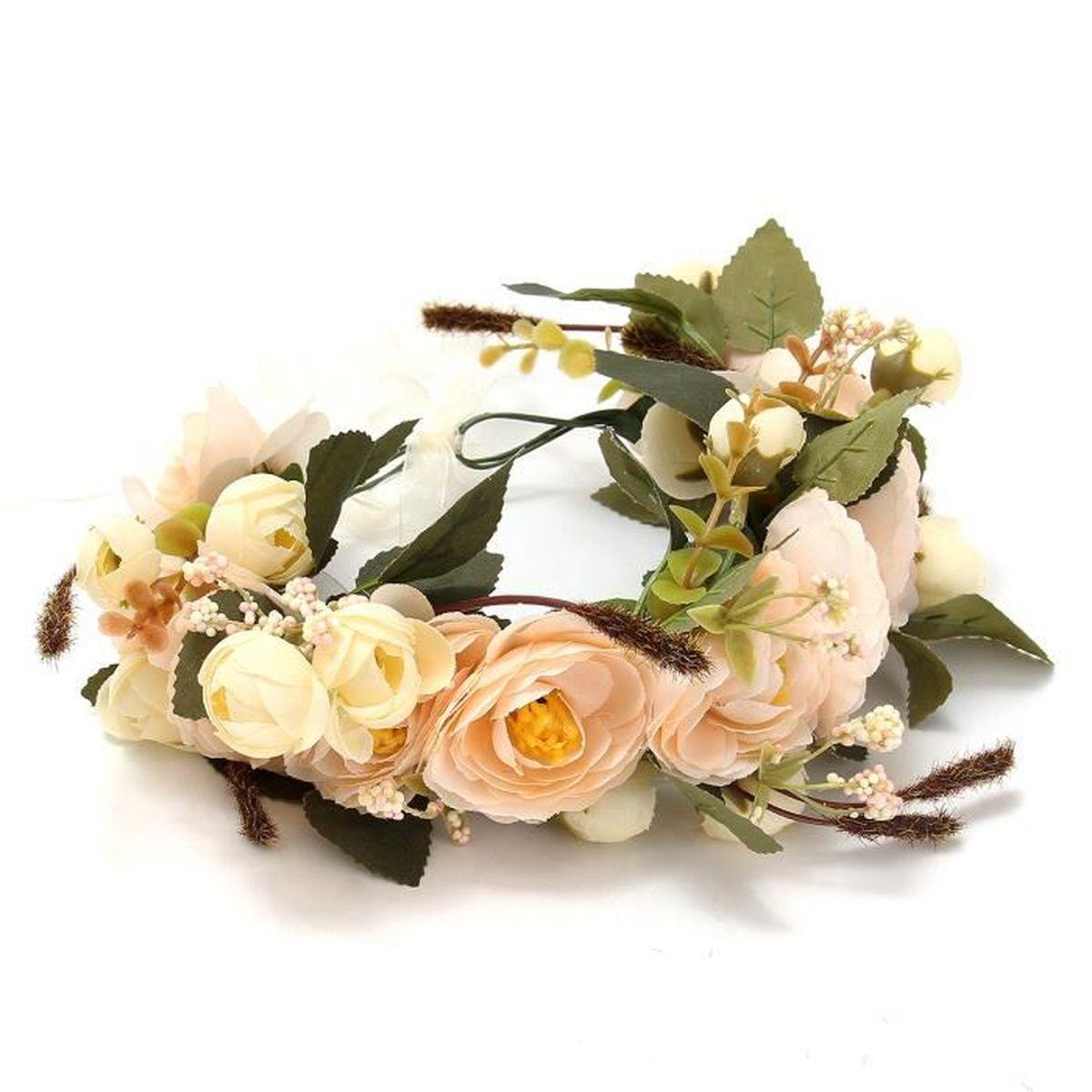 Couronne de fleurs cheveux achat vente couronne de for Fleurs envoi pas cher