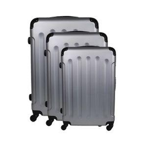 SET DE VALISES Bagage Lot de 3 Valises Argent - Rigide - 4 Roues