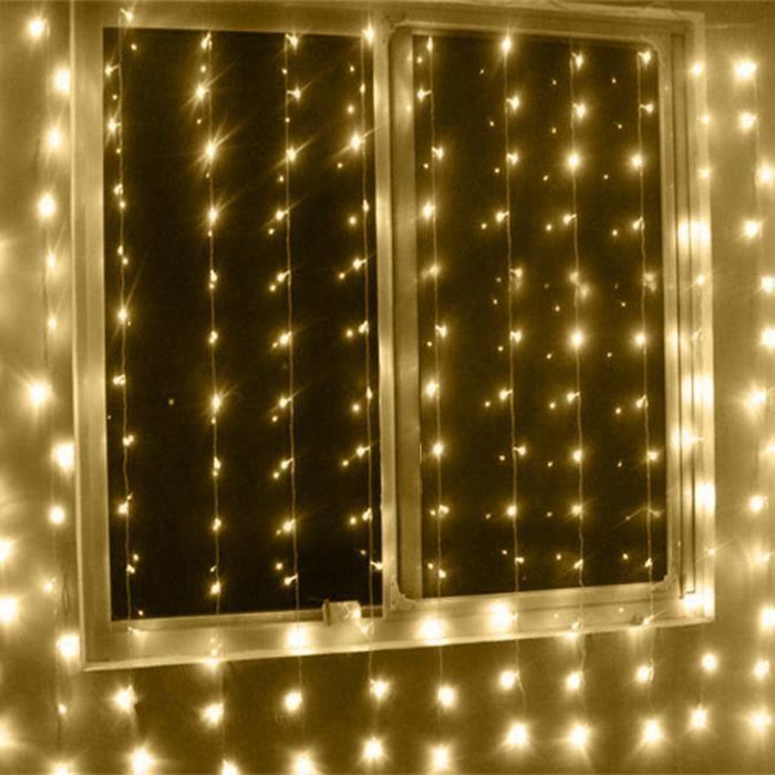 Guirlande lumineuse deco chambre guirlande lumineuse - Rideau guirlande lumineuse ...