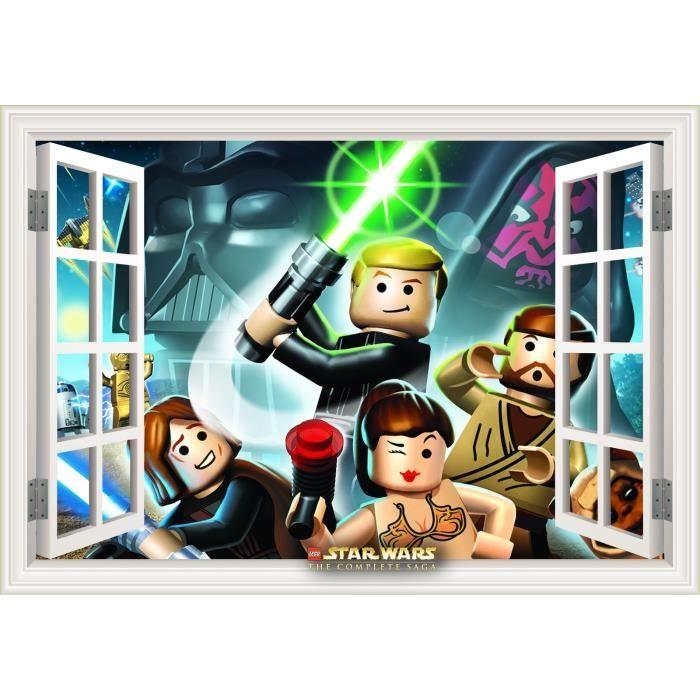 Autocollant mural 21 x 29 7 cm fenetre lego star wars for Fenetre lego