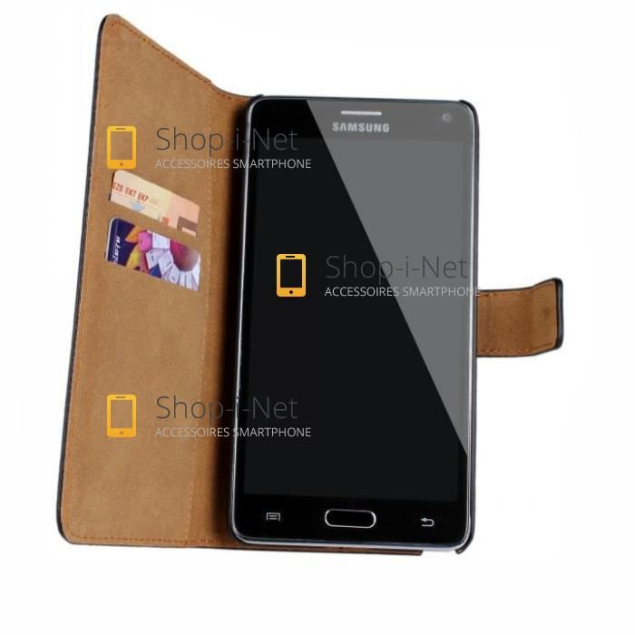 Housse etui portefeuille cuir pour galaxy note 4 achat for Housse samsung note 4