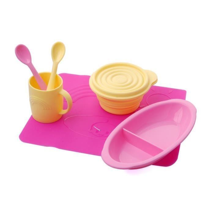 vaisselle en silicone pour b b enfant achat vente boites de conservation vaisselle en. Black Bedroom Furniture Sets. Home Design Ideas