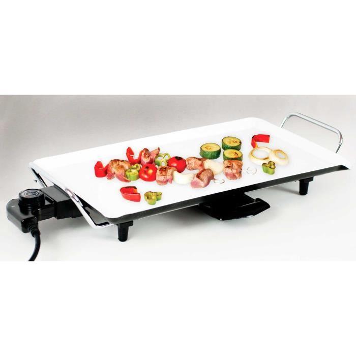 Plancha lectrique c ramique 1500 w achat vente plancha de table cdiscount - Cuisiner a la plancha electrique ...