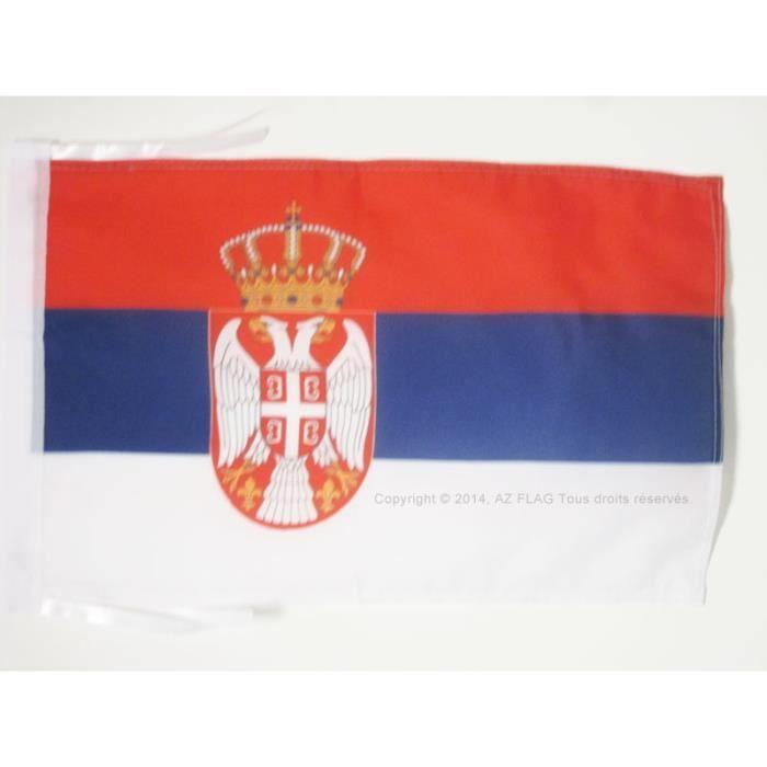 Drapeau serbie 45x30cm serbe haute qualit achat for Linge de maison haute qualite