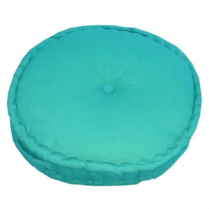 coussin de sol la maison charme serge bleu atoll achat. Black Bedroom Furniture Sets. Home Design Ideas