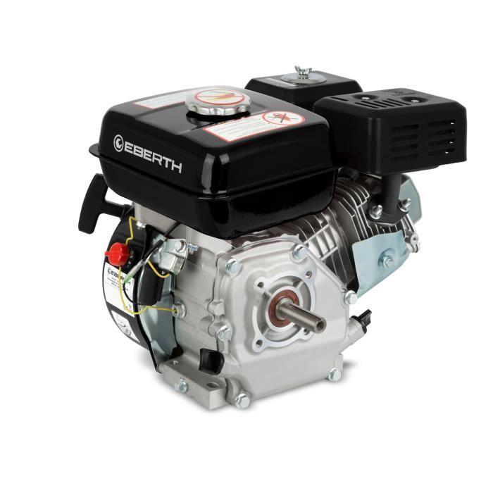 eberth 6 5 cv 4 8 kw moteur  u00e0 essence thermique 4 temps 1 cylindre 19 05mm noir   vente