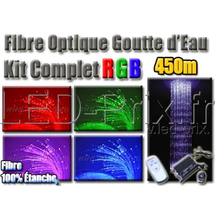 kit lustre rideau fibre optique goutte d 39 eau 450m achat vente kit lustre rideau fibre opt. Black Bedroom Furniture Sets. Home Design Ideas