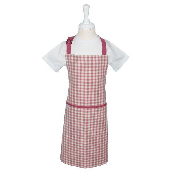 Tablier de cuisine enfant vichy rose ziro achat vente - Model tablier de cuisine ...