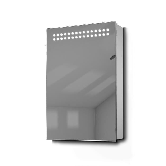 armoire de toilette avec capteur et prise rasoir int rieure k255w gris taille h 600mm x w. Black Bedroom Furniture Sets. Home Design Ideas