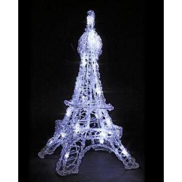 Tour eiffel 20 led lumi re fixe h 45 cm achat vente objets lumineux d co m tal acrylique - Tour eiffel deco ...