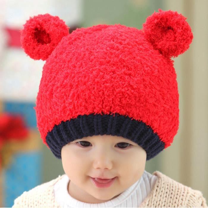 chapeau pour b b 0 12 mois d 39 automne et d 39 hiver petit chapeau rouge achat vente. Black Bedroom Furniture Sets. Home Design Ideas
