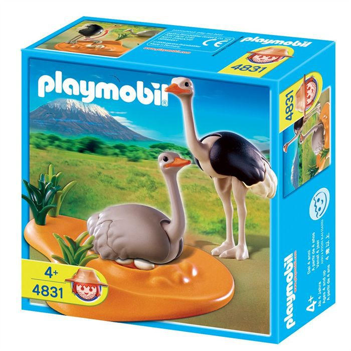 Playmobil couple d 39 autruches et nid achat vente univers miniature cdiscount - Playmobile savane ...