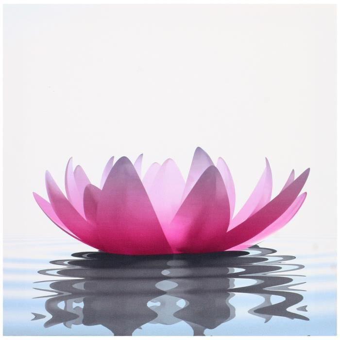 Tableau Toile Cadre Zen Lotus Fleur rose Nénuph\u2026