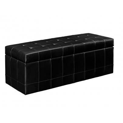 banc coffre wagner ii cuir bycast noir achat vente banc cuir polyur 233 thane cdiscount